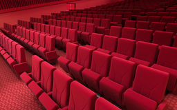 Cinema stage seats Royalty Free Stock Images