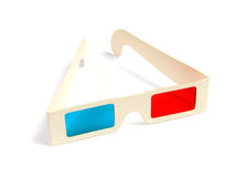 Cinema stereo glasses Royalty Free Stock Images