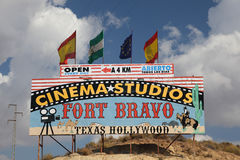 Cinema Studios Fort Bravo, Spain Stock Photos