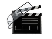 Cinema symbol. Abstract 3d illustration of cinema symbol, icon, over white vector illustration