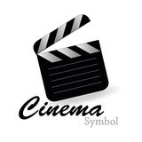 Cinema symbol. A black object used for taking scenes in the movies Stock Image