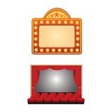 Cinema symbols Stock Images