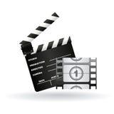 Cinema symbols Royalty Free Stock Photos