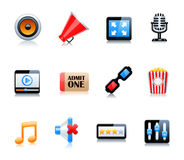 Cinema symbols set royalty free illustration