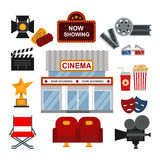 Cinema symbols vector illustration. Stock Photo