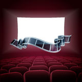 Cinema tape. Banner for movie and film production Royalty Free Stock Photography