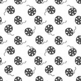 Cinema tape and film reel vintage seamless pattern  Stock Photography