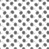 Cinema tape and film reel vintage seamless pattern, handdrawn sketch. Cinema tape and film reel vintage seamless pattern, handdrawn sketch, retro movie and film Stock Images