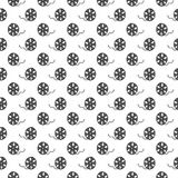 Cinema tape and film reel vintage seamless pattern, handdrawn sketch, retro movie and film industry, vector illustration Royalty Free Stock Photos