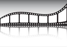 Cinema tape reflection stock photo