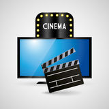 Cinema television clapper film. Illustration eps 10 Royalty Free Stock Image