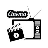 Cinema television clapper vintage home movie. Illustration eps 10 Stock Photography
