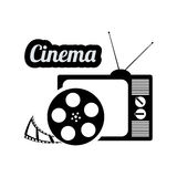 Cinema television film reel vintage home. Illustration eps 10 Royalty Free Stock Photography