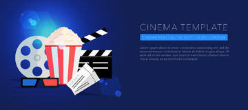 Cinema template background vector Royalty Free Stock Photo