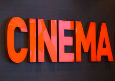 Cinema text Stock Images
