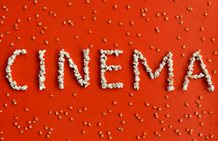 Cinema text Royalty Free Stock Images