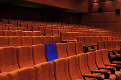 Cinema theater blue seat individual Stock Image