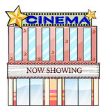 A cinema theater building Royalty Free Stock Photography