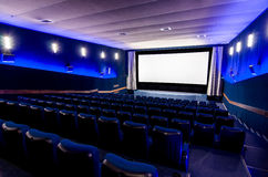 In the cinema theater Royalty Free Stock Photography