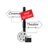 Cinema or theater icon vector Stock Photography