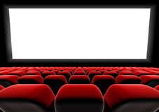 Cinema or theater screen seats. Royalty Free Stock Photography