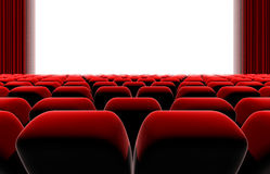 Cinema or theater screen seats. Royalty Free Stock Photos