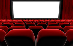 Cinema or theater screen seats. Royalty Free Stock Photo