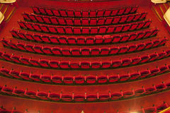 Cinema / theater seats. Red seats in theater Stock Photo