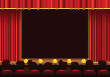 Cinema and theatre stage area Royalty Free Stock Images