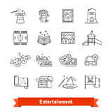 Cinema, theme park, galery, amusement events Stock Photos