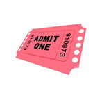 Cinema Ticket Royalty Free Stock Photo