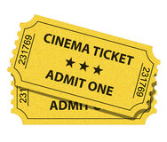 Cinema ticket Royalty Free Stock Photography