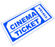 Cinema ticket Royalty Free Stock Image