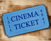 Cinema ticket Stock Photography