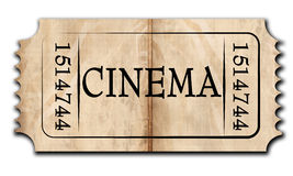 Cinema ticket Stock Images