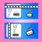 Cinema Ticket Concept. Vector Design. Realistic Illustration, Stock Photos