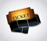 Cinema ticket icon Stock Images