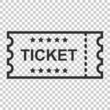 Cinema ticket icon in flat style. Admit one coupon entrance vector illustration on isolated background. Ticket business concept. stock illustration