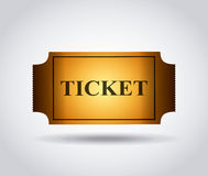 Cinema ticket icon. Over white background. colorful design. vector illustration Stock Photos