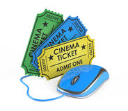 Cinema ticket online booking Stock Images