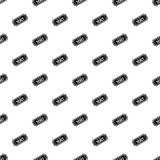 Cinema ticket pattern, simple style Stock Photography