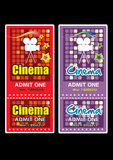 Cinema ticket Stock Image