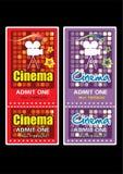 Cinema ticket. Retro cinema ticket with graphic illustration style Stock Image