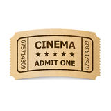 Cinema ticket. Royalty Free Stock Photos