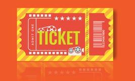 Cinema ticket sample template design. Trendy Vector. Cinema ticket sample template design. Trendy Vector illustration Stock Images