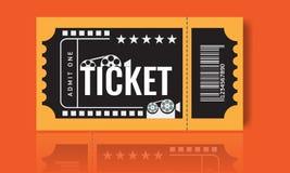Cinema ticket sample template design. Trendy Vector. Cinema ticket sample template design. Trendy Vector illustration Stock Image