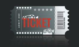 Cinema ticket sample template design. Trendy Vector. Cinema ticket sample template design. Trendy Vector illustration Stock Photos