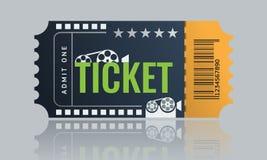 Cinema ticket sample template design. Trendy Vector. Cinema ticket sample template design. Trendy Vector illustration Royalty Free Stock Photos