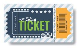 Cinema ticket sample template design. Trendy Vector. Cinema ticket sample template design. Trendy Vector illustration Royalty Free Stock Photography
