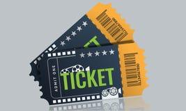 Cinema ticket sample template design. Trendy Vector. Stock Photo
